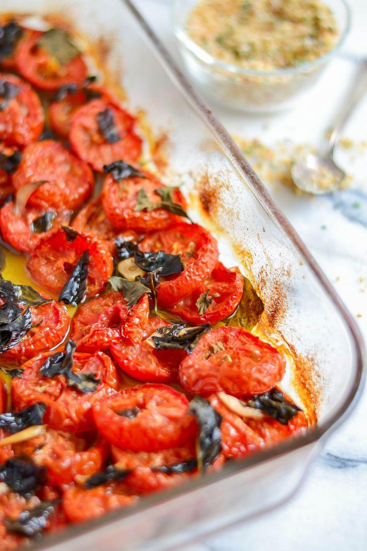 Olive Oil Tomatoes With Crispy Breadcrumbs Recipe — Dishmaps