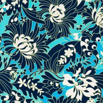 Amy Butler Fabric - Daisy Chain - Wildflowers - Navy