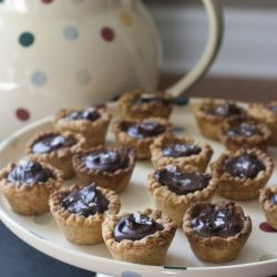 Salted Caramel Chocolate Mini Tarts. Small in stature but huge in flavor!