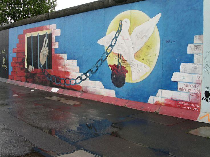 Wandgemälde Mauer Berlin
