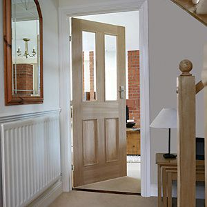 21 best internal doors images on pinterest internal doors indoor wickes denham internal glazed 4 panel oak veneer door 1981x838mm planetlyrics Gallery