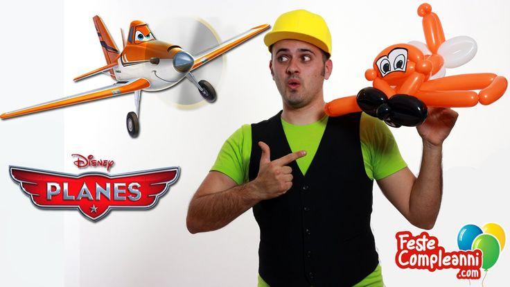 Palloncini modellabili, Dusty Planes Balloon, from the Disney movie Planes. Balloon art cartoon, palloncino aereo, sculture con palloncini, come realizzare Dusty l'aeroplano, l'Aereo del film Disney Planes.  Planes Disney Dusty - Aeroplano Dusty con palloncini - Vediamo come realizzare l'aeroplanino Dusty, il protagonista del Film Planes. Utilizzando i palloncini sagomati riusciremo a creare una scultura a forma di aeroplano, proprio come il personaggio del film.