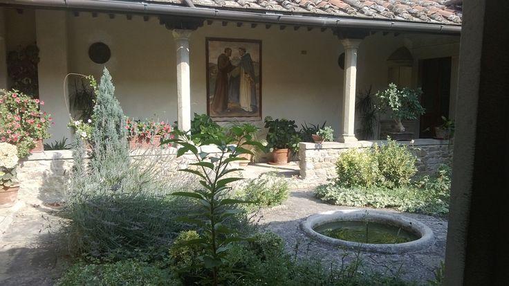 Hidden courtyard, Convento di San Francesco, Fiesole.