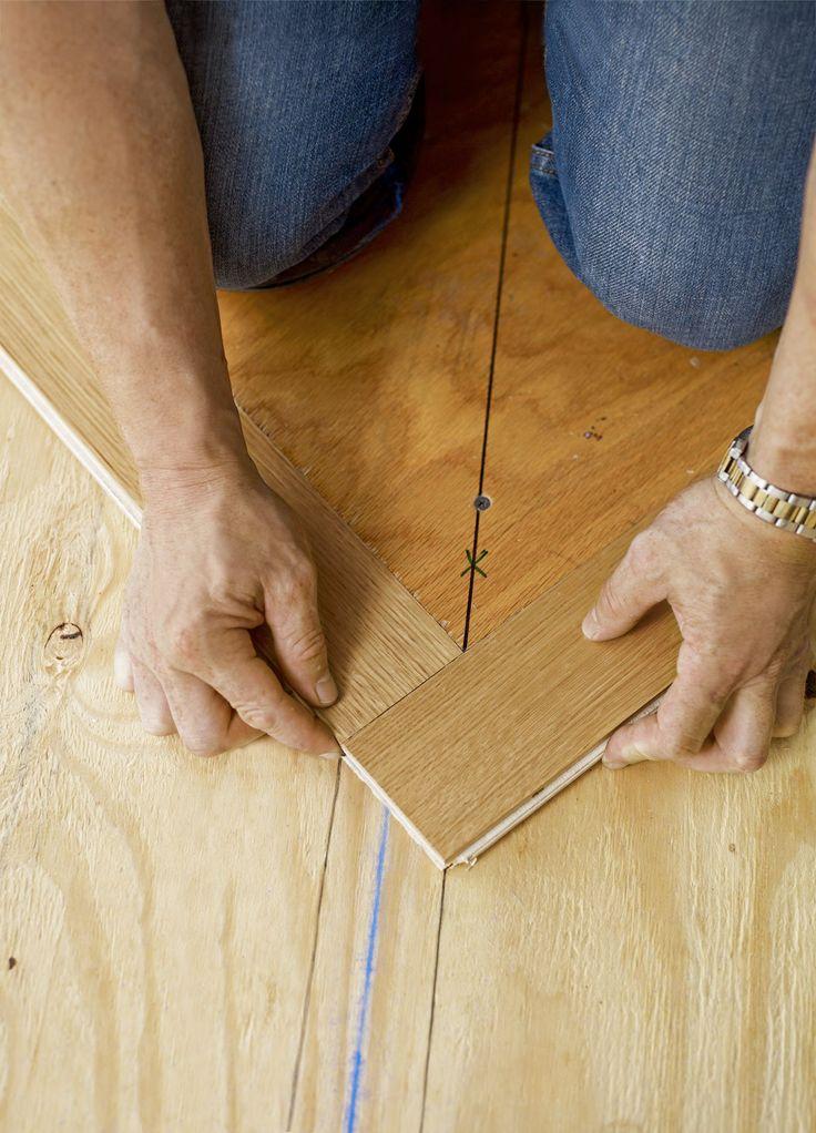 How to Install a Herringbone Floor Flooring, Wood floor