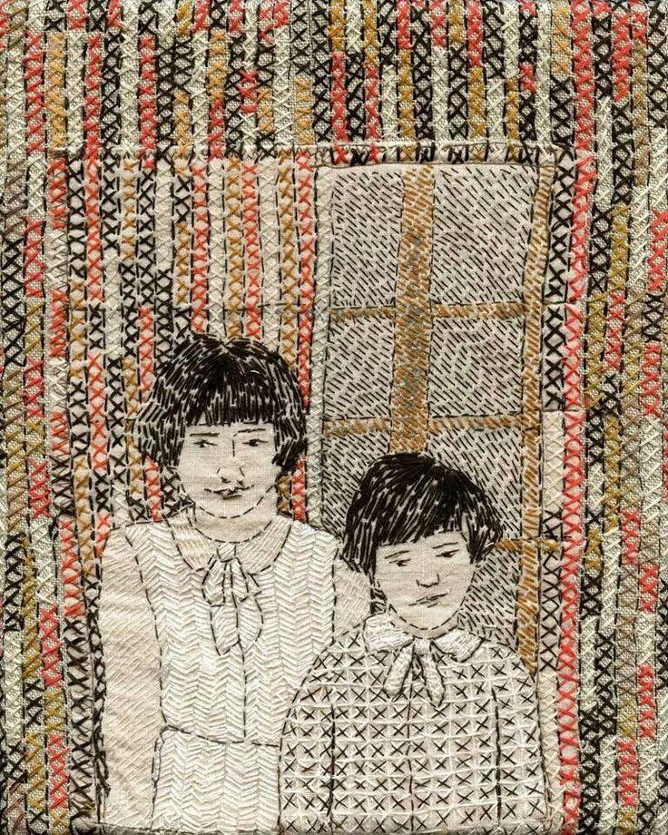 Cross Stitch and running stitch Sue Stone
