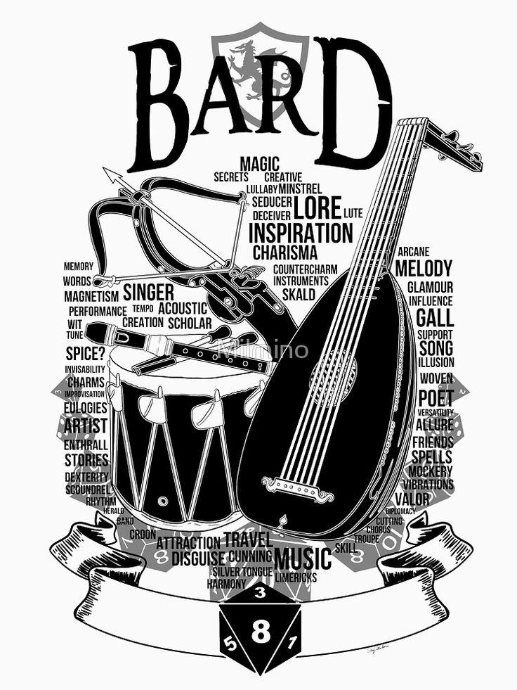 RPG Class Series: Bard - Black Version by Milmino