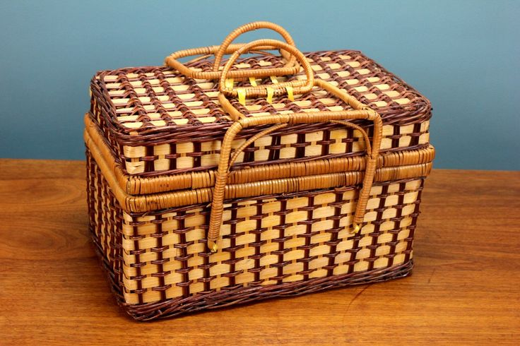 Vintage Wicker Picnic Basket with Lock Handles Woven Cane Retro Eclectic Boho Hipster Weave Kitchen Decor Beach House Purse by RetroSpecList on Etsy https://www.etsy.com/listing/474794252/vintage-wicker-picnic-basket-with-lock