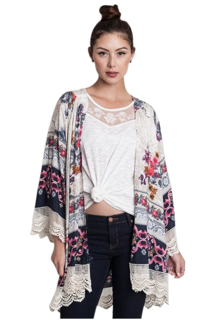 102 best Kimono Cardigans images on Pinterest | Ponchos, Beautiful ...