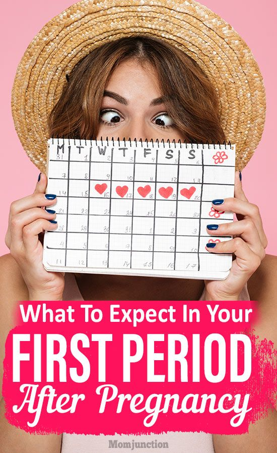 When do you have your first period after pregnancy