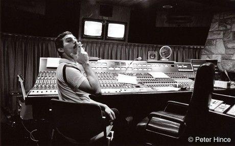 Freddie Mercury in the Montreux studio in 1982 (Peter Hince)