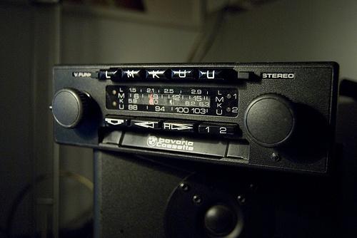 vintage car radio BMW bavaria Casette by jesuspark, via Flickr