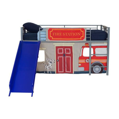 DHP Fire Department Curtain Set for Junior Loft Bed