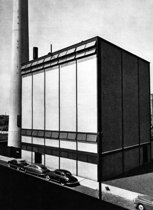 Mies van der Rohe, Boiler Plant, Illinois Institute of Technology, Chicago, Illinois, 1950