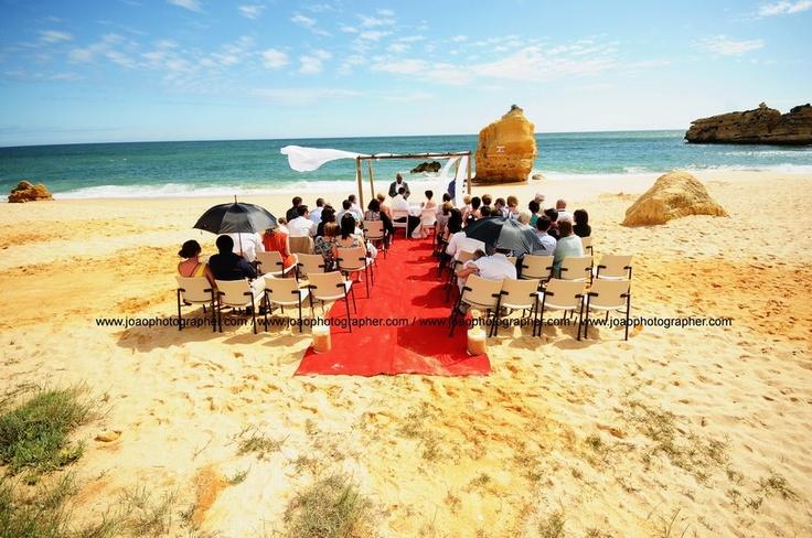 Beach wedding in Algarve Portugal by Algarve Wedding Planners