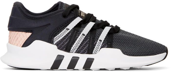 adidas originals eqt racing adv sneakers in black and pink