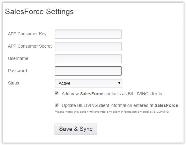 Salesforce billing software from BILLIVING