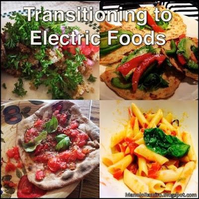 Transitioning to #ElectricFoods - alkaline recipes and food substitutes