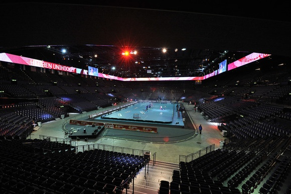 Hallenstadion in Zurich, seats 11,000 for a Floorball game, home of the WFC 2012