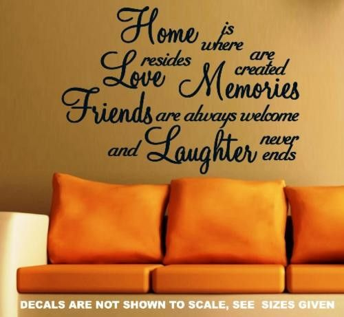HOME IS WHERE LOVE RESIDES INSPIRATIONAL QUOTATION 1 WALL ART STICKER MEDIUM VINYL DECAL