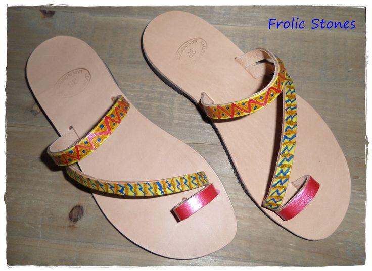 Handpainted sandals