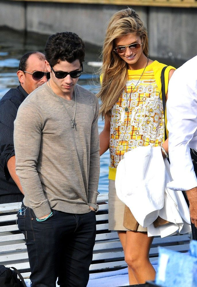Delta Goodrem - Nick Jonas and Delta Goodrem on a Boat