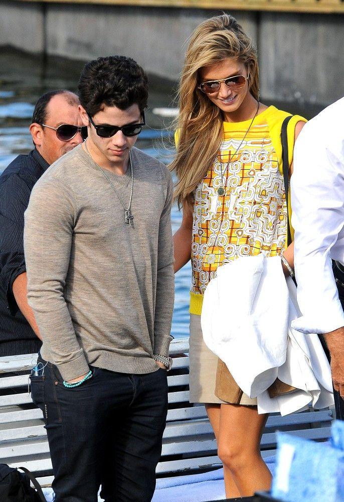 Delta Goodrem - Nick Jonas and Delta Goodrem on a Boat