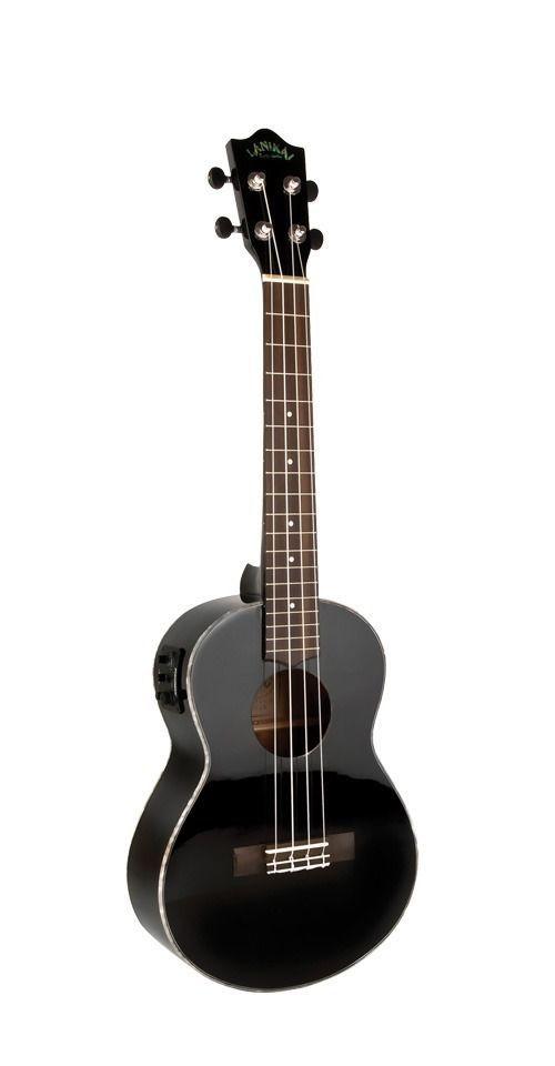 Lanikai LU2-21TEK/BK Ukulele - Acoustic Electric Tenor Size Black Gloss Uke #LANIKAI #UKULELE