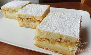 Szaftos vaníliapudingos-almás kocka | TopReceptek.hu