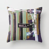 Throw Pillow featuring Wall St by designed to a T