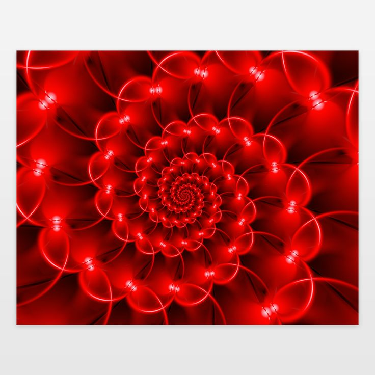 Fun Indie Art from BoomBoomPrints.com! https://www.boomboomprints.com/Product/kittybitty/Glossy_Red_Spiral_Fractal/Art_Prints/8x10/