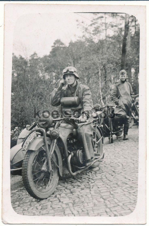 Foto Kamenz 1940 BMW R 11 Motorrad Kradmelder Krad Kfz Kennzeichen WH-200137 | eBay