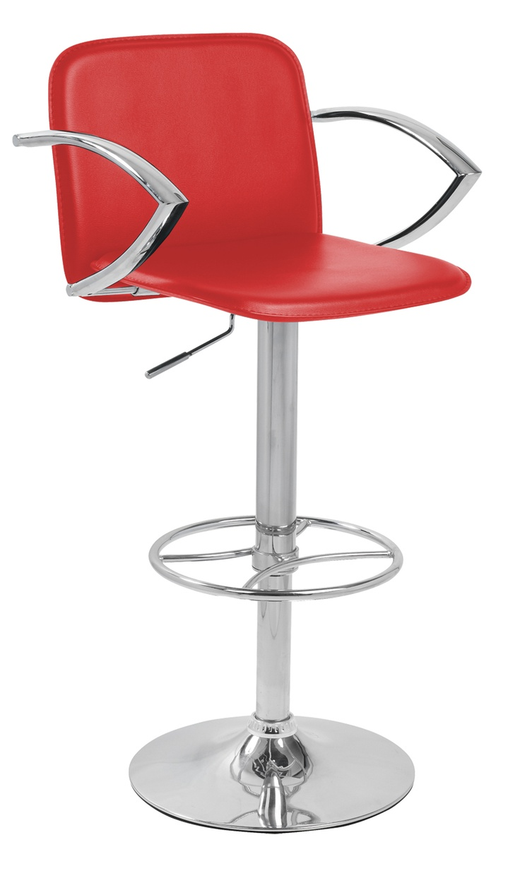 The Bueno Gas Lift Bar Stool in Red.