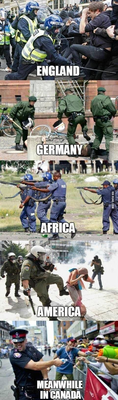 Police brutality is happening across the world people are being beaten and harassed freedom vs.order is in effect