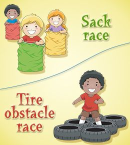 Simple obstacle course games for the little kids on each team! Some of them are boring but most are great for the kids who can't do more difficult things
