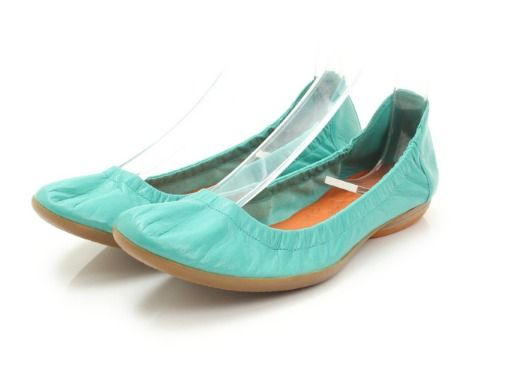 Hermes leather ballet shoes Emerald green 36 1/2 NWT Auth #Hermes