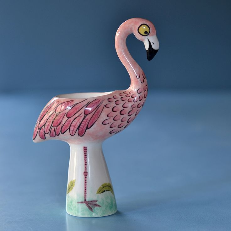 Handmade Ceramic Flamingo Egg Cup by Hannah Turner