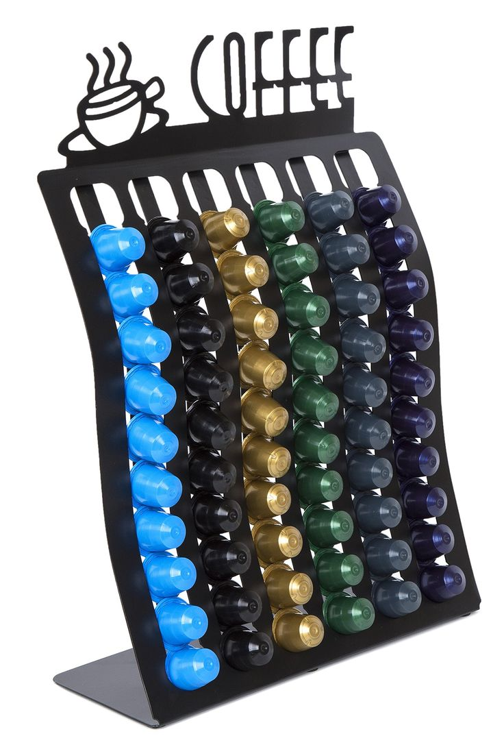 Insight Nespresso Coffee Pod Rack -- Holder for up to 60 Capsules (Coffee pods NOT Included. Works ONLY with Nespresso Capsules)