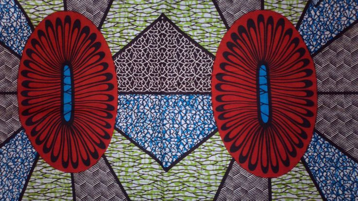 African Real Dutch Wax Print Fabric 100% Cotton 1 Yard. £4.99, via Etsy.