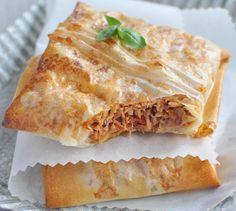Brick au Thon et à la tomate | Envie de bien manger. Plus de recettes ici : http://www.enviedebienmanger.fr/recettes/primev%25C3%25A8re