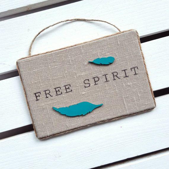 Free spirit sign - Bohemian chic decor - Boho wall decor by HavenOfHarmony