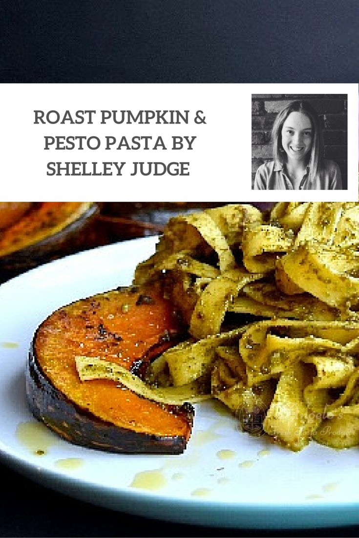 Pesto and Roast Pumpkin Pappardelle Recipe by Shelley Judge. This is a healthy pasta recipe that is quick and easy to prepare. Great for lunch or a mid-week meal. @shelleyjudge