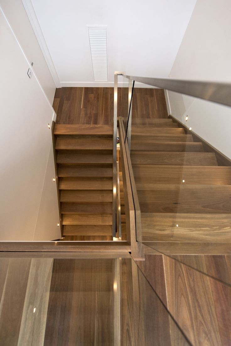 Stairs Staircase Glass Balustrade Timber Stainless