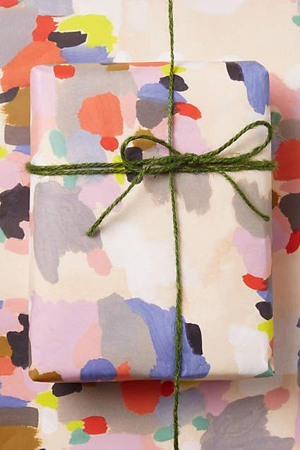 Impressionist Wrapping Paper - anthropologie.com