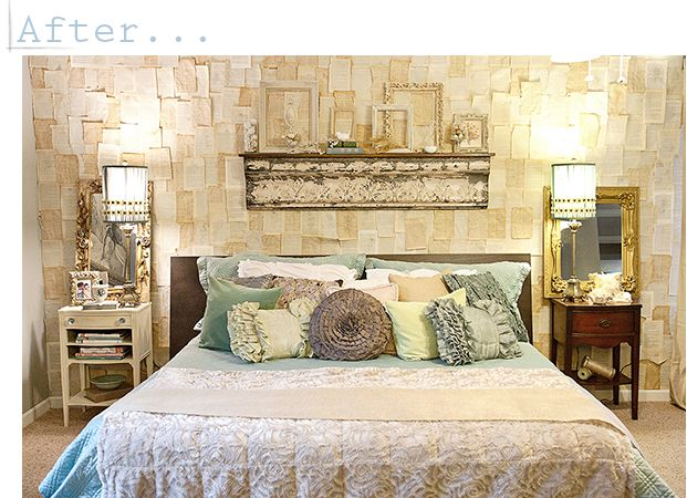 bed time story: Decor, Ideas, Wallpaper, Book Pages, Bedroom Makeover, Master Bedroom, Bedrooms