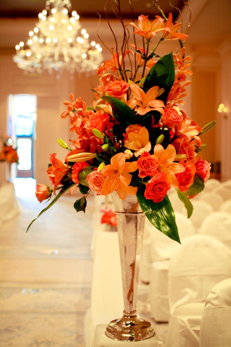 76 best oc wedding event table centerpieces ideas images for Orange centerpieces for tables