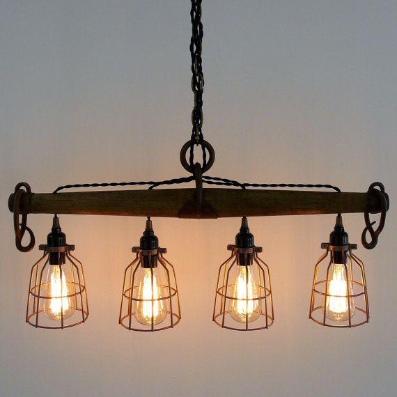 Rustic Industrial Modern Handmade Mason Jar Chandelier Rustic: Best 25+ Rustic Light Fixtures Ideas On Pinterest