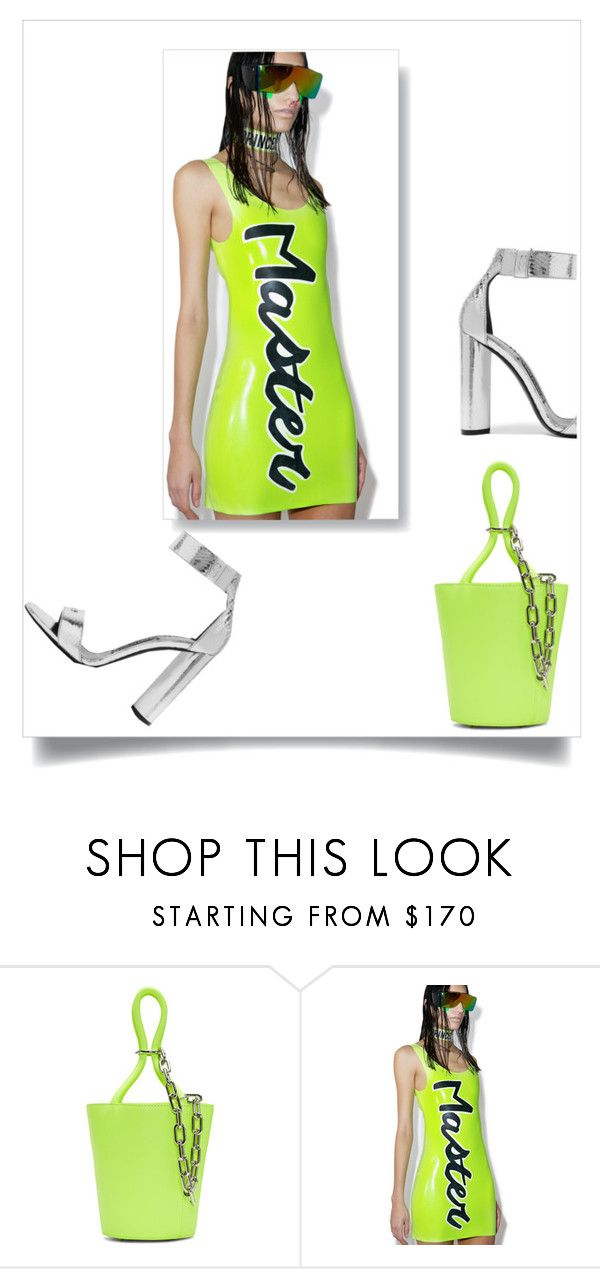 """Neon green outfit"" by changethisonce ❤ liked on Polyvore featuring Alexander Wang, Meat and Tom Ford"