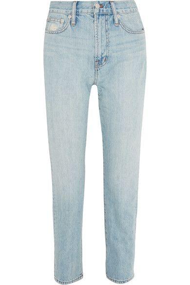 Light-blue denim Button and concealed zip fastening at front 100% cotton Machine wash Designer wash: Fitzgerald
