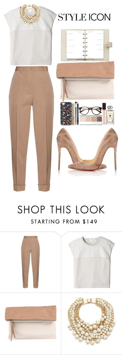 """""""Classy Work attire"""" by sincerelyjae ❤ liked on Polyvore featuring Bottega Veneta, Helmut Lang, Pietro Alessandro, Kate Spade, Christian Louboutin, Louis Vuitton, women's clothing, women's fashion, women and female"""