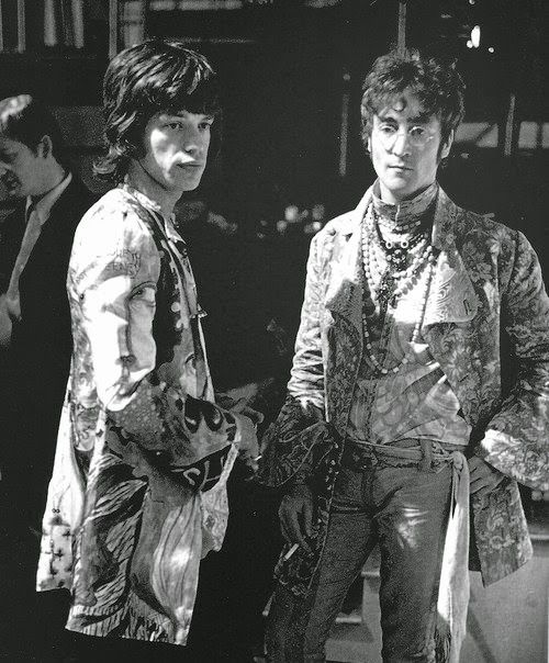 "the60sbazaar: "" Mick Jagger and John Lennon at the Rock n Roll Circus """